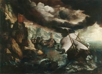 Le naufrage de Jonas (Paul Bril) - Muzeo.com