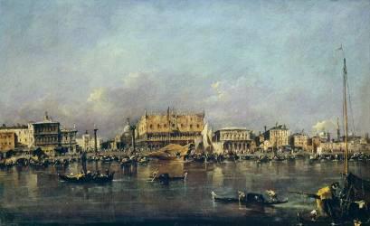 Le Palais des Doges vu de la mer (Francesco Guardi) - Muzeo.com