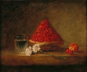Le Panier de fraises des bois (Chardin Jean Siméon) - Muzeo.com
