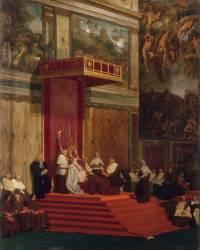 Le Pape Pie VII tenant chapelle (Jean-Auguste-Dominique Ingres) - Muzeo.com