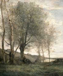 Le pâtre aux deux chèvres (Corot Jean-Baptiste Camille) - Muzeo.com