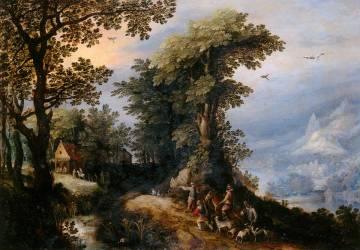 Le Retour de la chasse (Jan Brueghel l'Ancien) - Muzeo.com