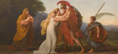 Le Retour du guerrier (Anne-Louis Girodet) - Muzeo.com
