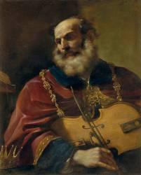 Le Roi David (Le Guerchin) - Muzeo.com