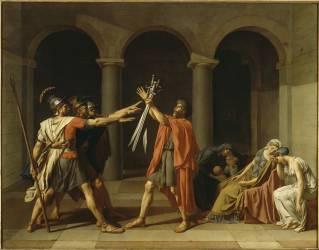 Le Serment des Horaces (Jacques Louis David) - Muzeo.com
