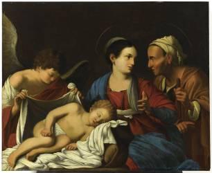 Le sommeil de l'Enfant Jésus (Carlo Saraceni) - Muzeo.com