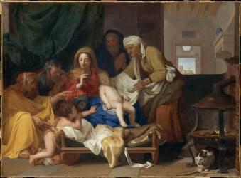 Le Sommeil de l'Enfant Jésus (Charles Le Brun) - Muzeo.com