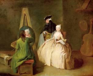 Le studio de l'artiste (Pietro Longhi) - Muzeo.com