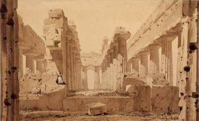 Le Temple de Neptune à Paestum (Eugène Viollet-Le-Duc) - Muzeo.com