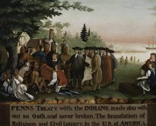 Le traité de Penn avec les Indiens (Edward Hicks) - Muzeo.com