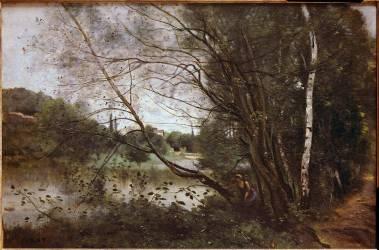 L'étang à l'arbre couché (Corot Jean-Baptiste Camille) - Muzeo.com