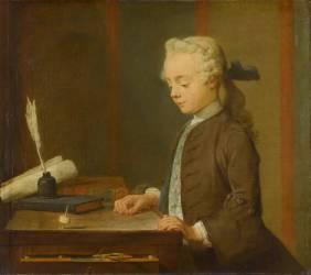 L'Enfant au Toton. Auguste Gabriel Godefroy (1728-1813) (Chardin Jean Baptiste Siméon) - Muzeo.com