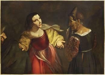 L'Entremetteuse ou La Vieille et le Jeune galant (Pietro Paolini) - Muzeo.com