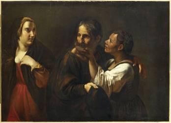 L'Entremetteuse ou le Vieux et la Jeune courtisane (Pietro Paolini) - Muzeo.com