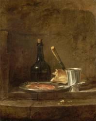 Les Apprêts d'un déjeuner, dit aussi Le Gobelet d'argent (Jean Siméon Chardin) - Muzeo.com