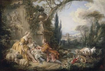 Les Charmes de la vie champêtre (François Boucher) - Muzeo.com