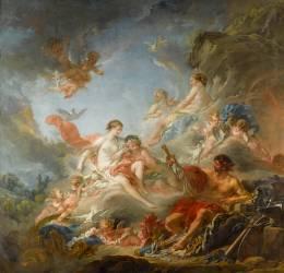Les Forges de Vulcain ou Vulcain présentant à Vénus les armes pour Enée (François Boucher) - Muzeo.com