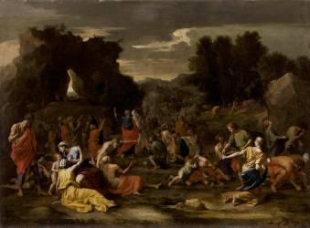 Les Israélites recueillant la manne dans le désert (Nicolas Poussin) - Muzeo.com