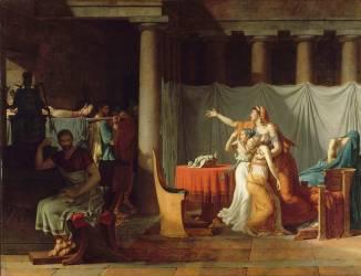 Les Licteurs rapportent à Brutus les corps de ses fils (Jacques Louis David) - Muzeo.com
