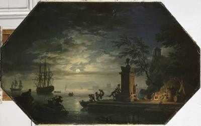 Les quatre parties du jour : la Nuit ou le clair de lune (Joseph Vernet) - Muzeo.com
