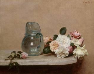 Les Roses (Fantin-Latour Henri) - Muzeo.com