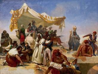 L'Expédition en Egypte (esquisse) (Léon Cogniet) - Muzeo.com