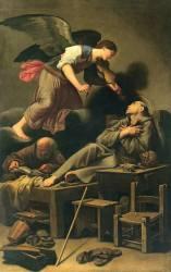 L'Extase de saint François (Carlo Saraceni) - Muzeo.com