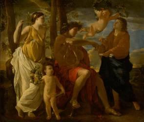 L'inspiration du poète (Nicolas Poussin) - Muzeo.com