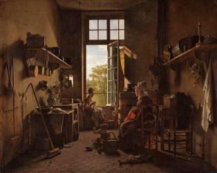 L'Intérieur d'une cuisine (Martin Drolling) - Muzeo.com