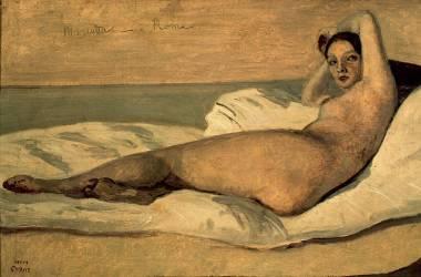 L'Odalisque romaine dit Marietta (Camille Corot) - Muzeo.com
