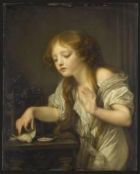 L'Oiseau mort (Jean-Baptiste Greuze) - Muzeo.com