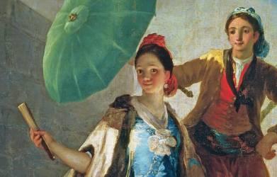 L'ombrelle (détail) (Francisco de Goya) - Muzeo.com