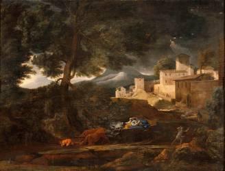 L'Orage (dit l'orage Pointel) (Nicolas Poussin) - Muzeo.com