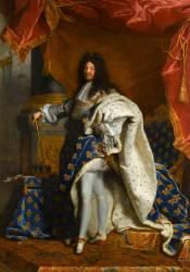 Louis XIV, roi de France, portrait en pied en costume royal (Rigaud Hyacinthe) - Muzeo.com