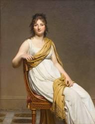 Madame Raymond de Verninac, née Henriette Delacroix (1780-1827), soeur d'Eugène Delacroix (Jacques Louis David) - Muzeo.com
