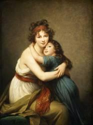 Madame Vigée-Le Brun et sa fille, Jeanne-Lucie, dite Julie (1780-1819) (Elisabeth Vigée Le Brun) - Muzeo.com