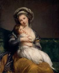 Madame Vigée-Le Brun et sa fille, Jeanne Marie-Louise (1780-1819) (Vigée-Le Brun Elisabeth...) - Muzeo.com