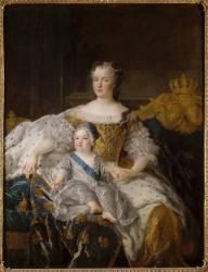 Marie Leszczynska (1703-1768), reine de France et le Dauphin Louis (1729-1765) (Alexis Simon Belle) - Muzeo.com