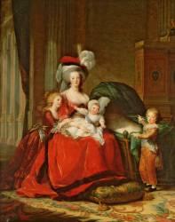 Marie-Antoinette de Lorraine-Habsbourg, reine de France et ses enfants (Vigée-Le Brun Elisabeth...) - Muzeo.com