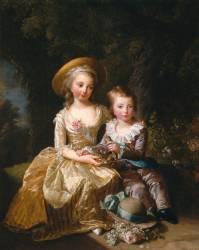 Marie-Thérèse-Charlotte de France et son frère le Dauphin Louis-Joseph-Xavier (Elisabeth Vigée Le Brun) - Muzeo.com