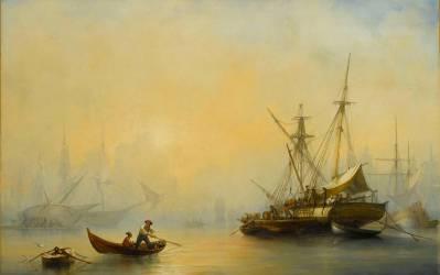 Marine, effet de brouillard (François Pierre Bernard Barry) - Muzeo.com
