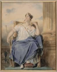 Mlle Georges dans un rôle tragique (Devéria Eugène) - Muzeo.com