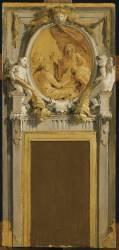 Modello avec scène allégorique pour un dessus-de-porte (Giambattista Tiepolo) - Muzeo.com