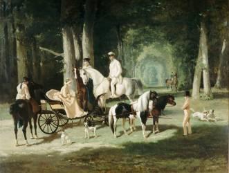 Monsieur et madame Mosselman et leurs deux filles (Alfred Dedreux) - Muzeo.com