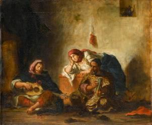 Musiciens juifs de Mogador (Delacroix Eugène) - Muzeo.com