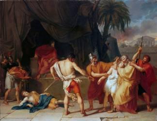 Nabuchodonosor fait tuer les enfants de Sédécias en présence de leur père (Girodet Anne-Louis) - Muzeo.com