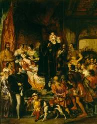Naissance d'Henri IV (château de Pau, le 13 décembre 1553) (Devéria Eugène) - Muzeo.com
