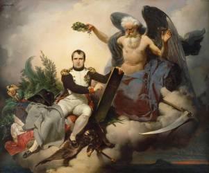 Napoléon Ier couronné par le Temps, écrit le Code Civil (Mauzaisse Jean-Baptiste) - Muzeo.com