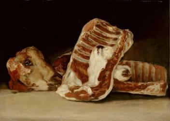Nature morte à la tête de mouton ( Francisco De Goya) - Muzeo.com