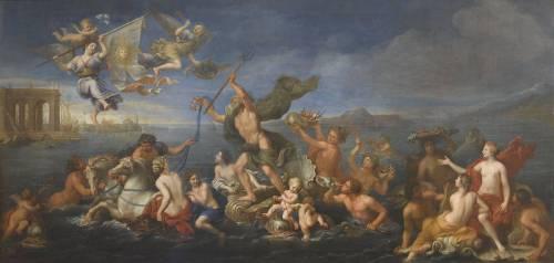 Neptune offrant ses richesses à la France (Pierre Mignard) - Muzeo.com